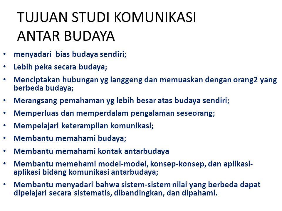 TUJUAN STUDI KOMUNIKASI ANTAR BUDAYA