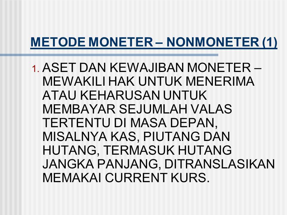 METODE MONETER – NONMONETER (1)