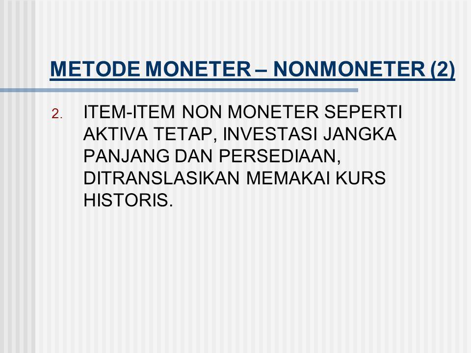 METODE MONETER – NONMONETER (2)