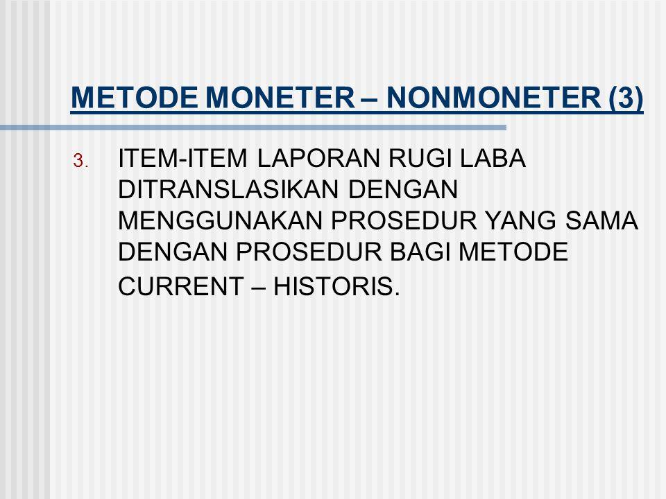 METODE MONETER – NONMONETER (3)