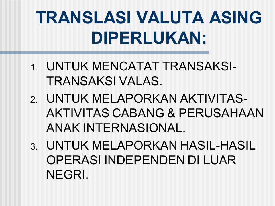 TRANSLASI VALUTA ASING DIPERLUKAN: