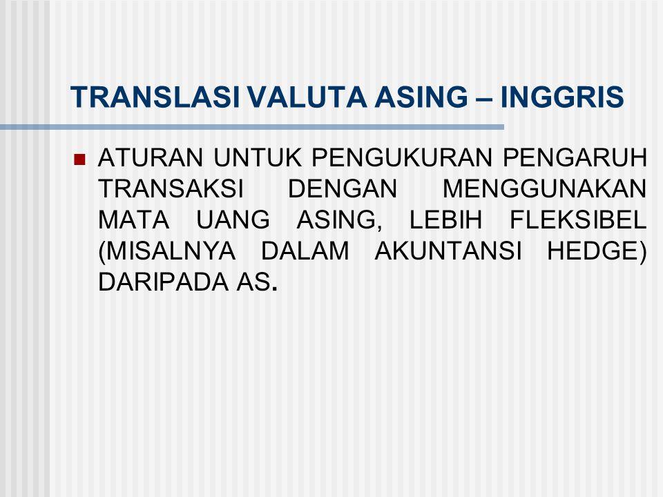TRANSLASI VALUTA ASING – INGGRIS