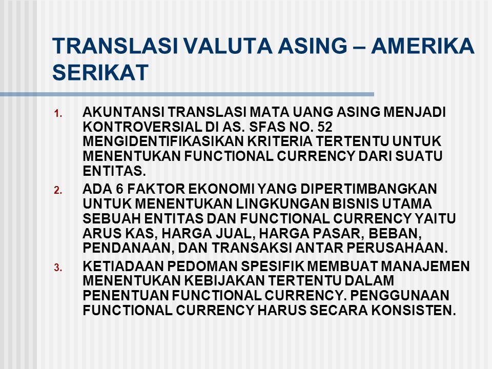 TRANSLASI VALUTA ASING – AMERIKA SERIKAT