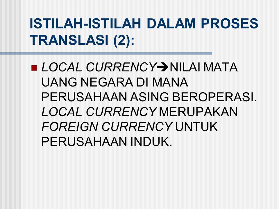 ISTILAH-ISTILAH DALAM PROSES TRANSLASI (2):