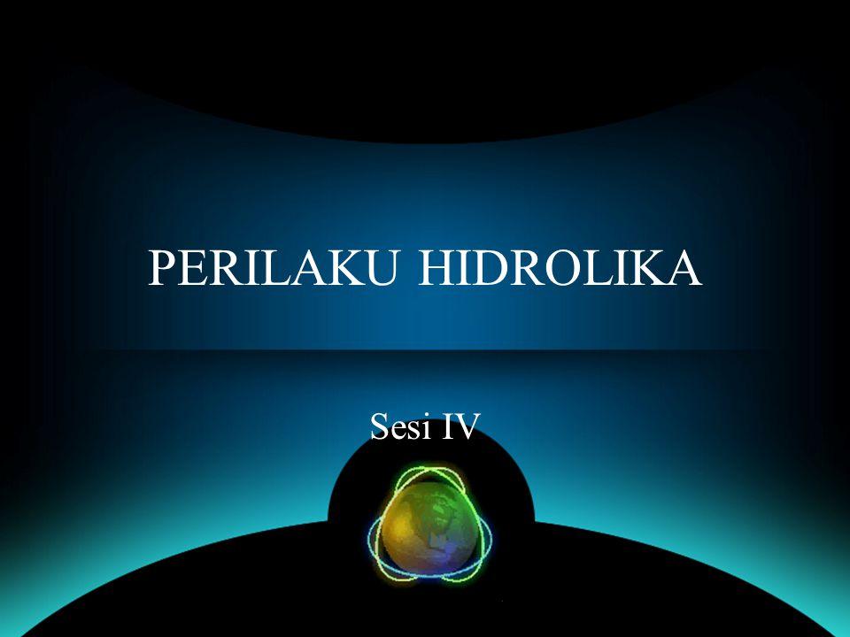 PERILAKU HIDROLIKA Sesi IV
