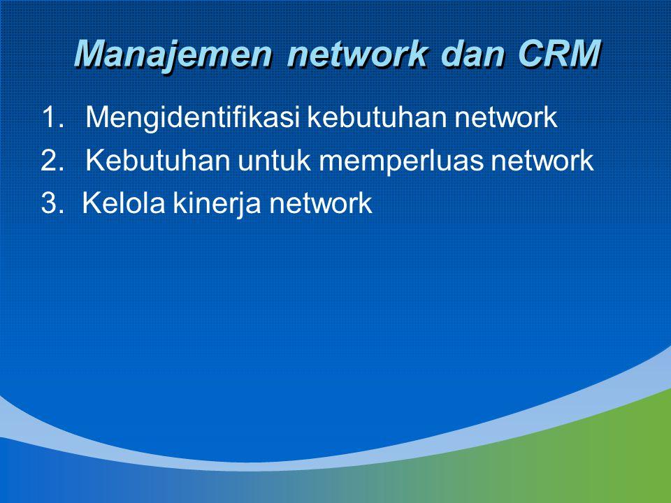 Manajemen network dan CRM