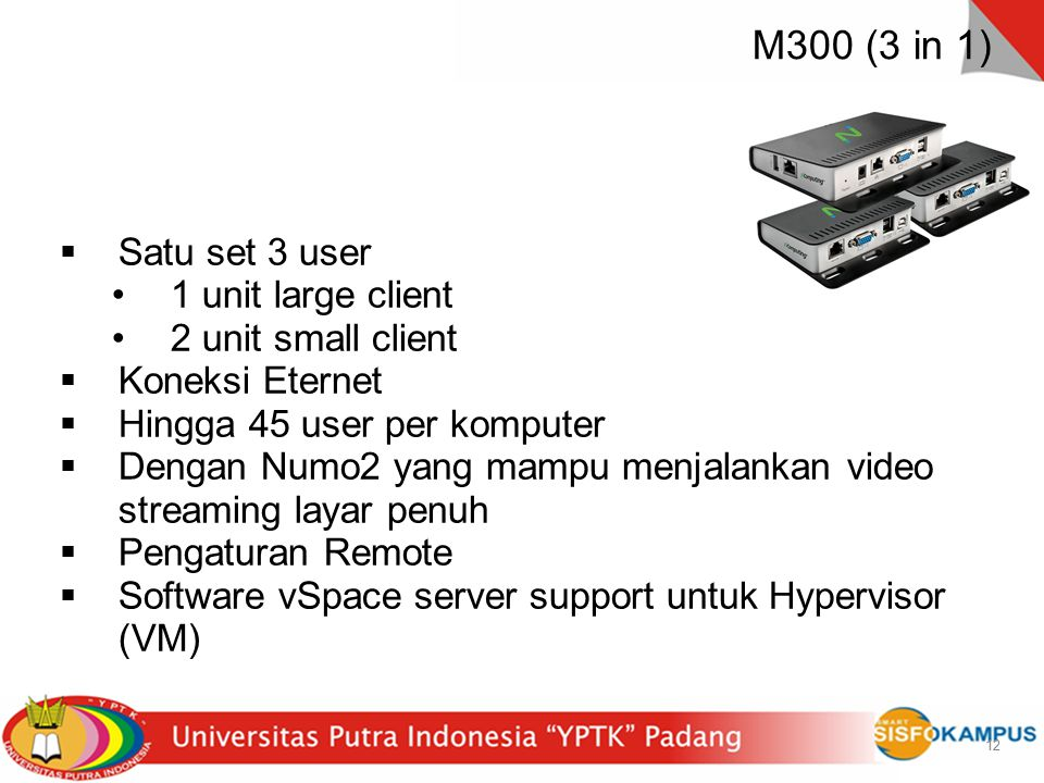 M300 (3 in 1) Satu set 3 user 1 unit large client 2 unit small client