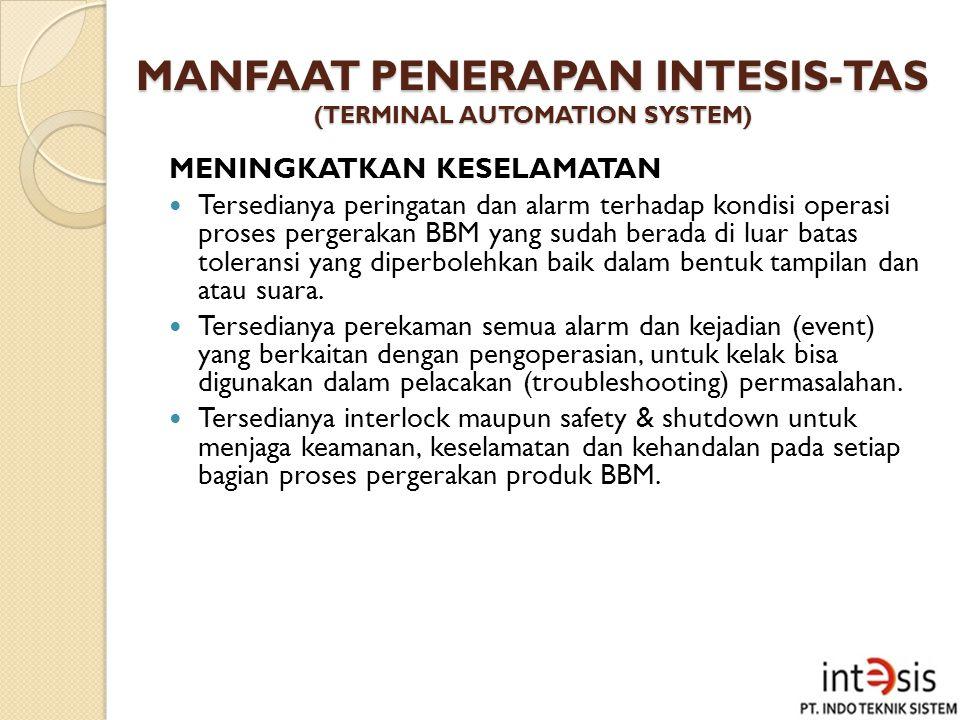 MANFAAT PENERAPAN INTESIS-TAS (TERMINAL AUTOMATION SYSTEM)