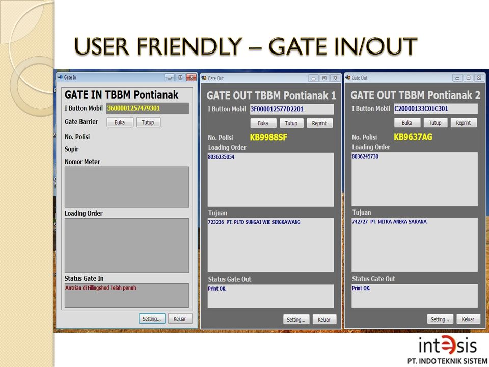 USER FRIENDLY – GATE IN/OUT