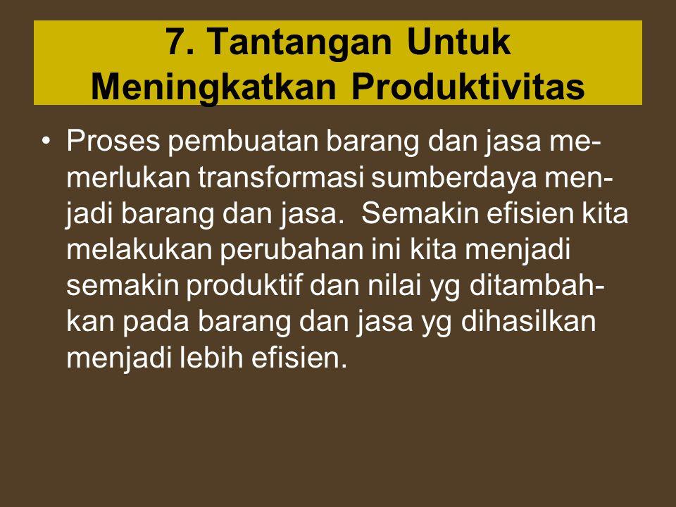 7. Tantangan Untuk Meningkatkan Produktivitas