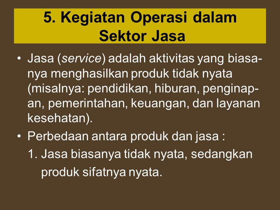 5. Kegiatan Operasi dalam Sektor Jasa