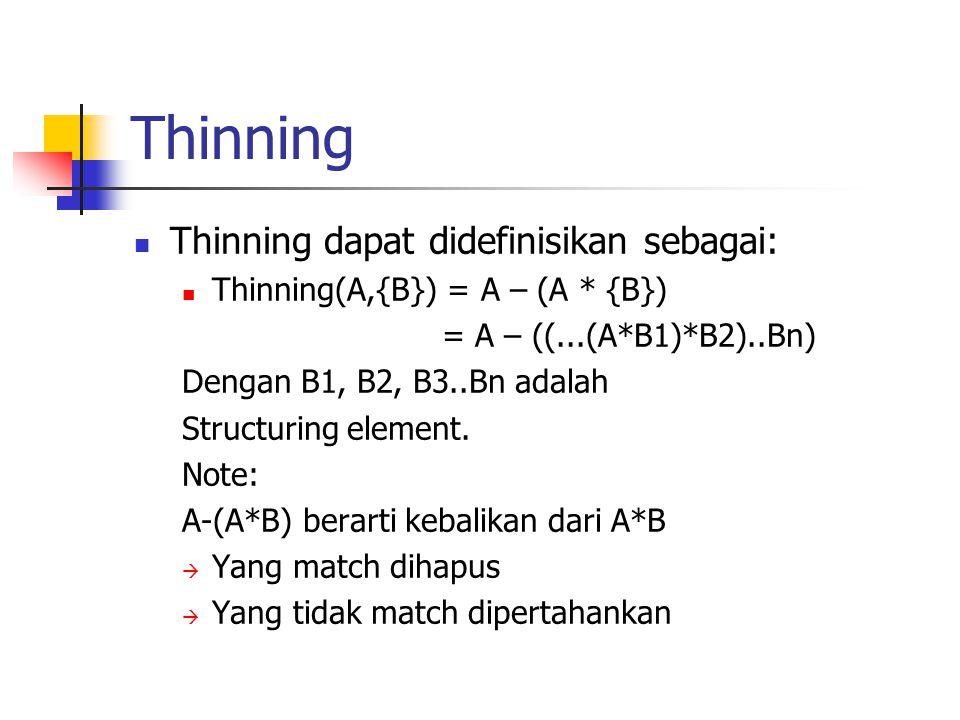Thinning Thinning dapat didefinisikan sebagai:
