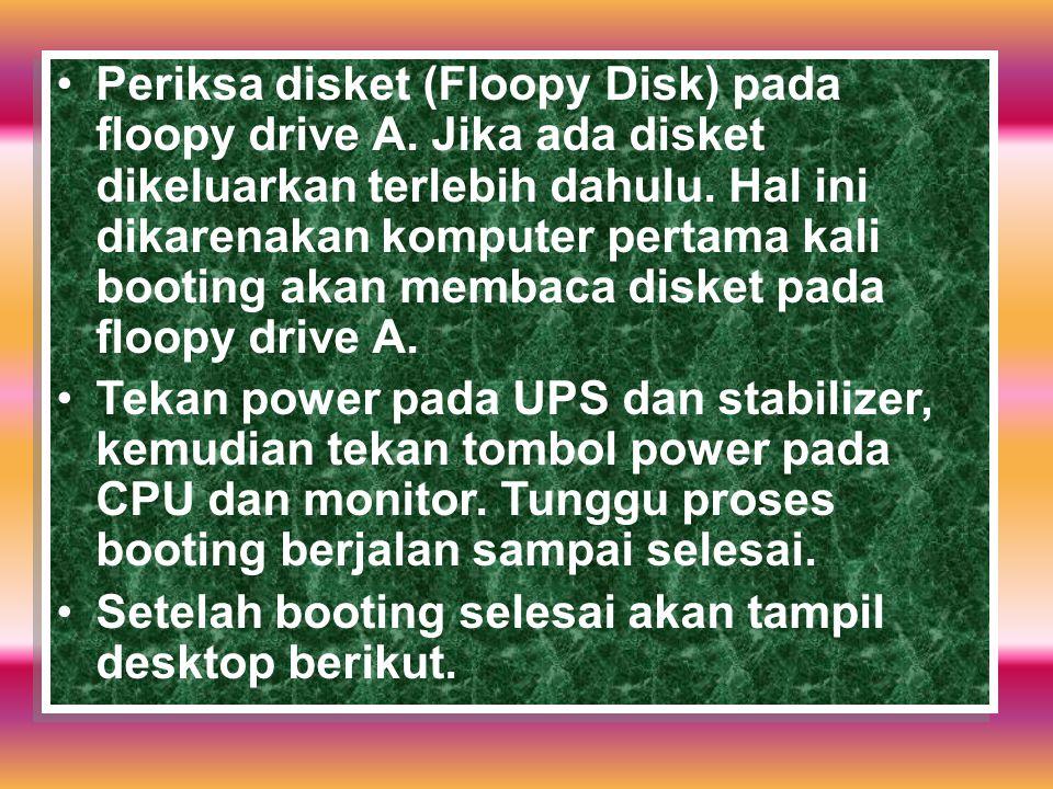 Periksa disket (Floopy Disk) pada floopy drive A