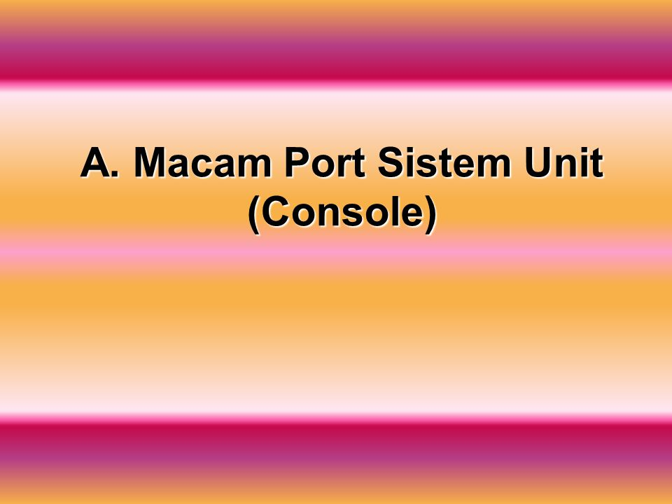 A. Macam Port Sistem Unit (Console)