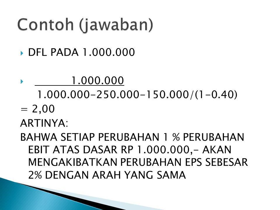 Contoh (jawaban) DFL PADA 1.000.000 1.000.000