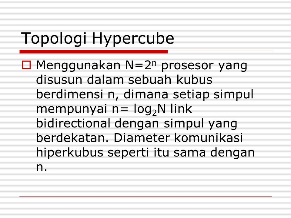Topologi Hypercube