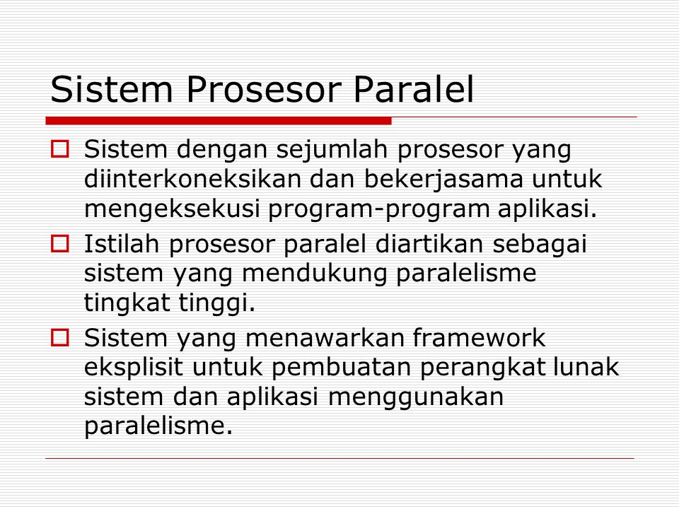 Sistem Prosesor Paralel