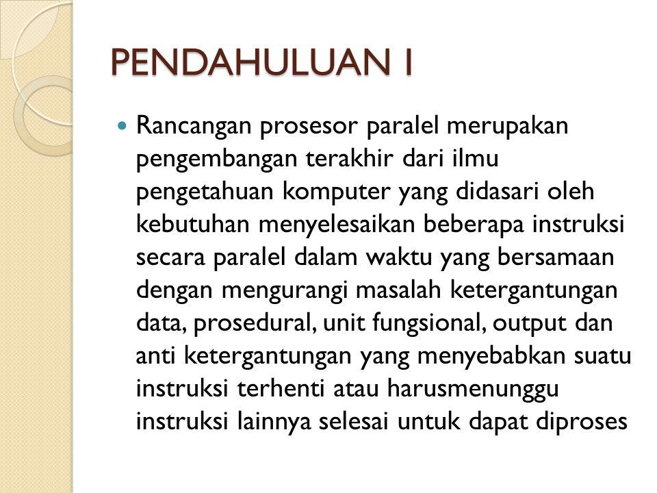 PENDAHULUAN I