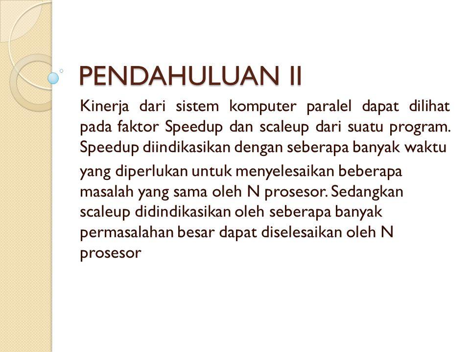 PENDAHULUAN II