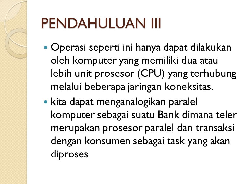 PENDAHULUAN III