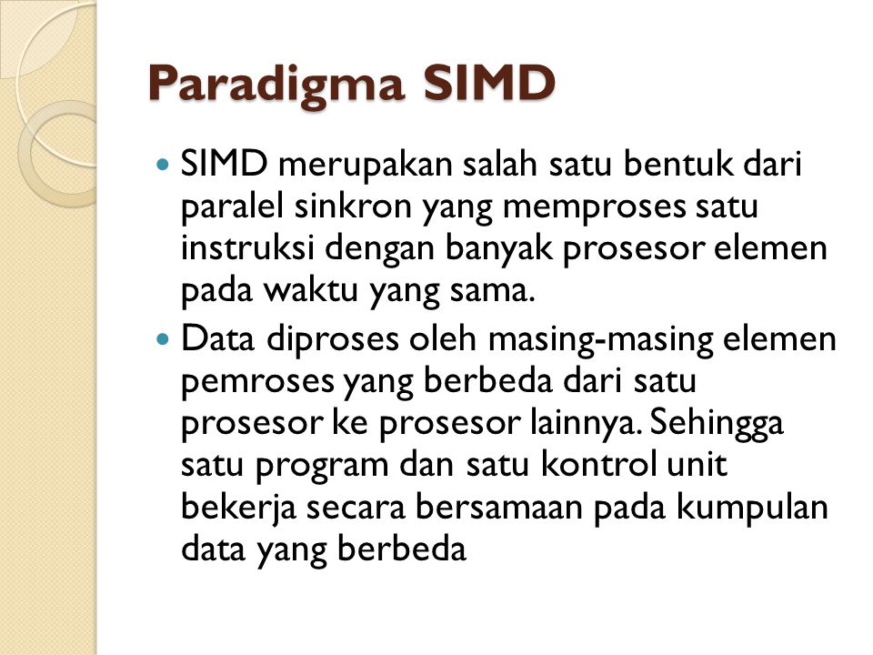 Paradigma SIMD
