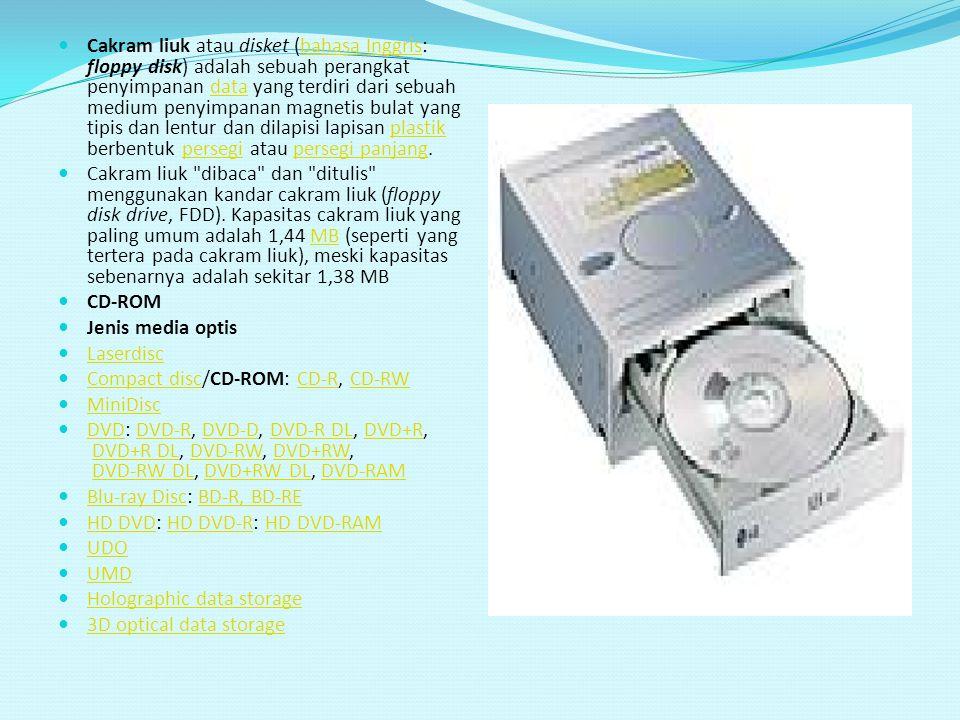 Cakram liuk atau disket (bahasa Inggris: floppy disk) adalah sebuah perangkat penyimpanan data yang terdiri dari sebuah medium penyimpanan magnetis bulat yang tipis dan lentur dan dilapisi lapisan plastik berbentuk persegi atau persegi panjang.
