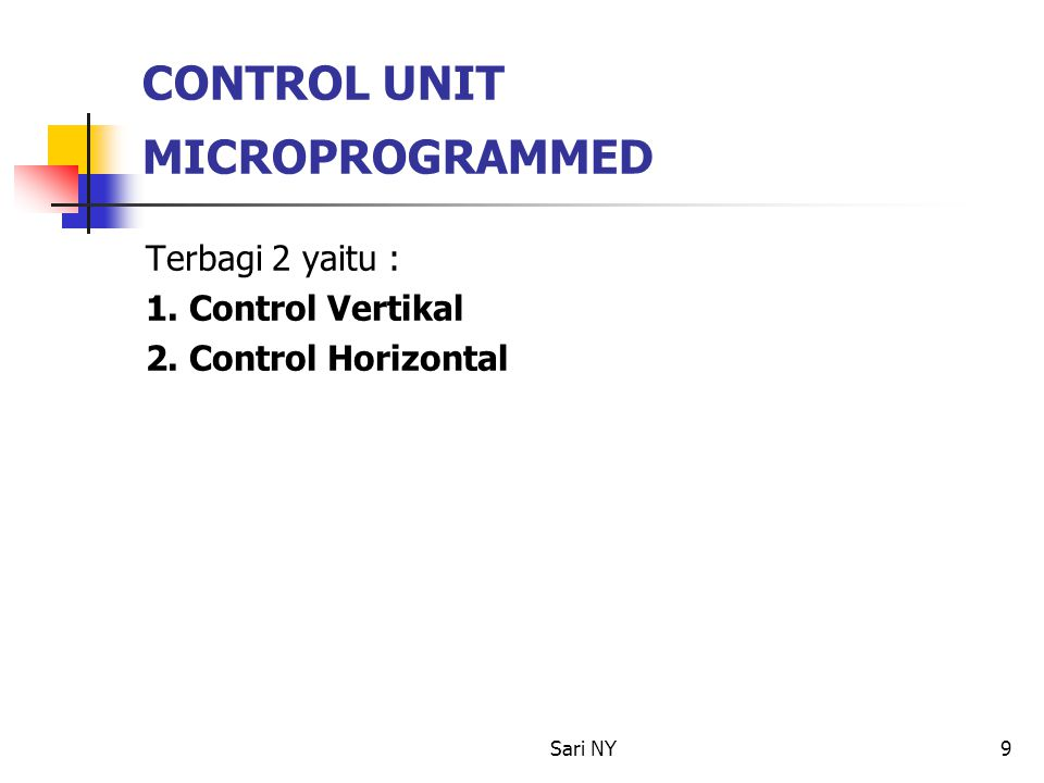 CONTROL UNIT MICROPROGRAMMED