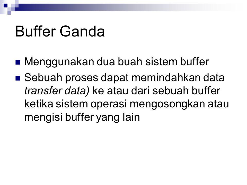Buffer Ganda Menggunakan dua buah sistem buffer