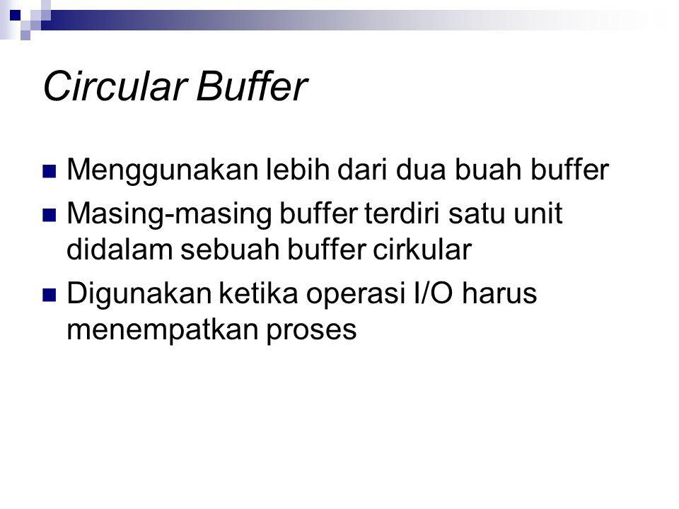 Circular Buffer Menggunakan lebih dari dua buah buffer