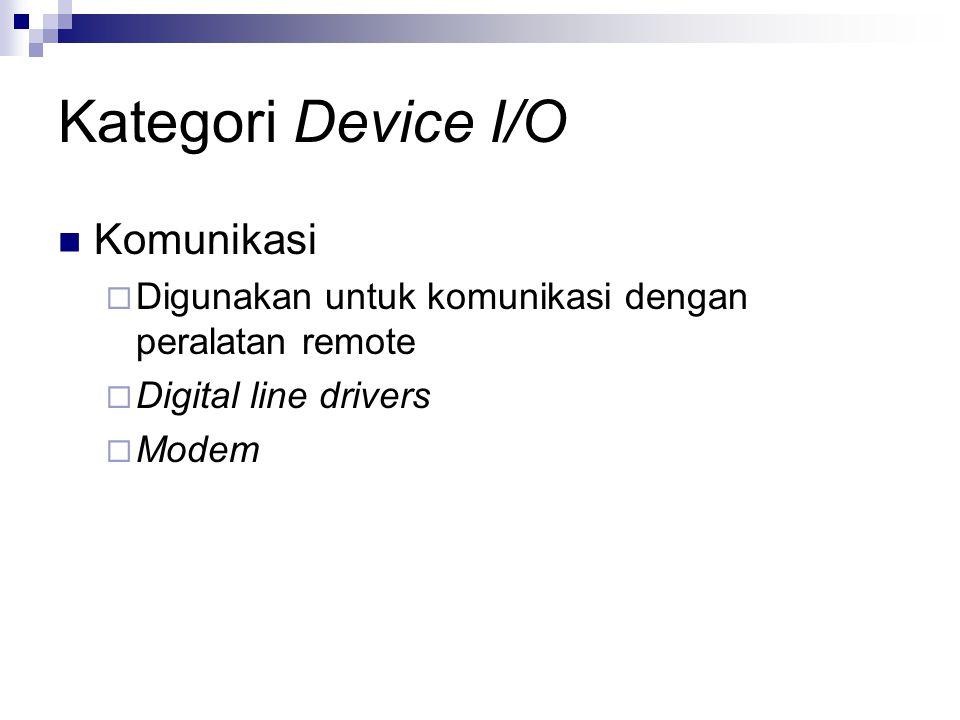 Kategori Device I/O Komunikasi