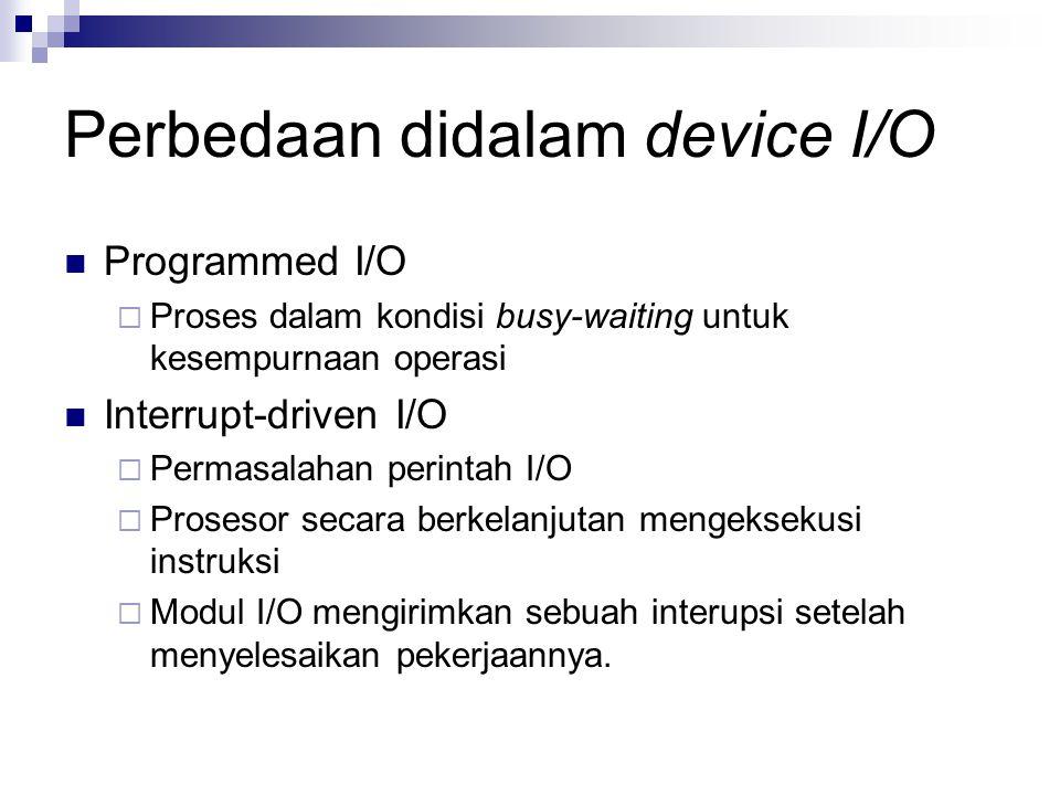 Perbedaan didalam device I/O