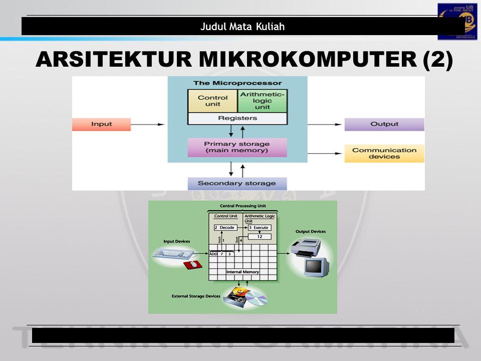 ARSITEKTUR MIKROKOMPUTER (2)