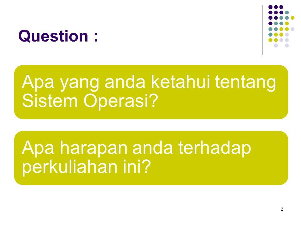 Apa yang anda ketahui tentang Sistem Operasi