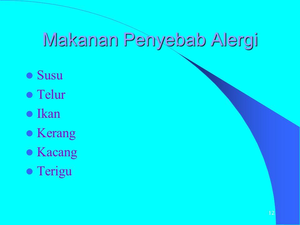 Makanan Penyebab Alergi