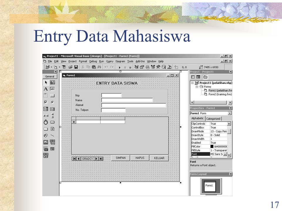 Entry Data Mahasiswa