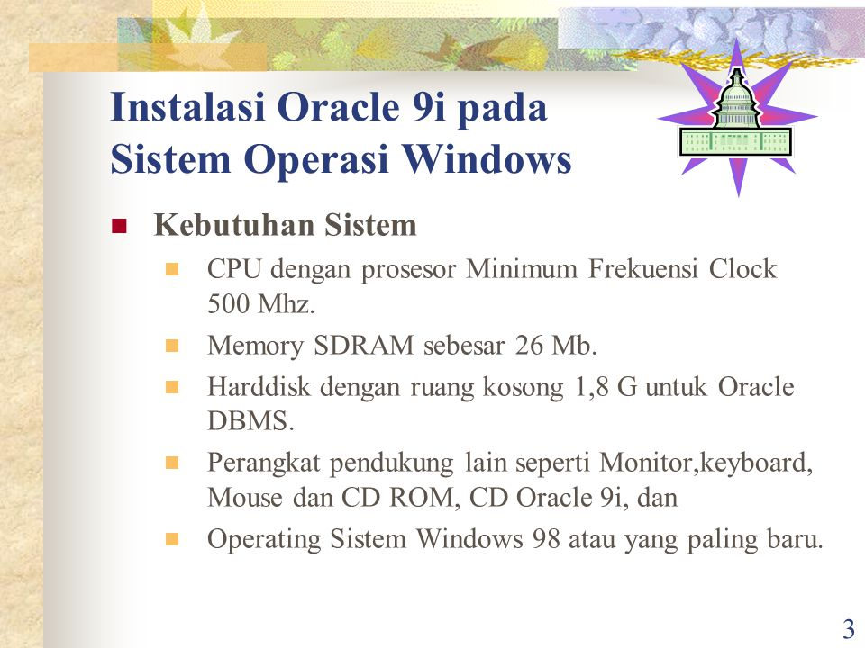 Instalasi Oracle 9i pada Sistem Operasi Windows
