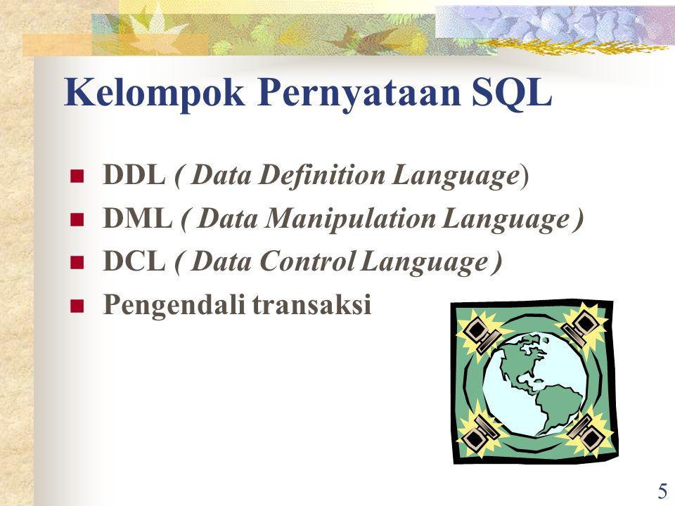Kelompok Pernyataan SQL