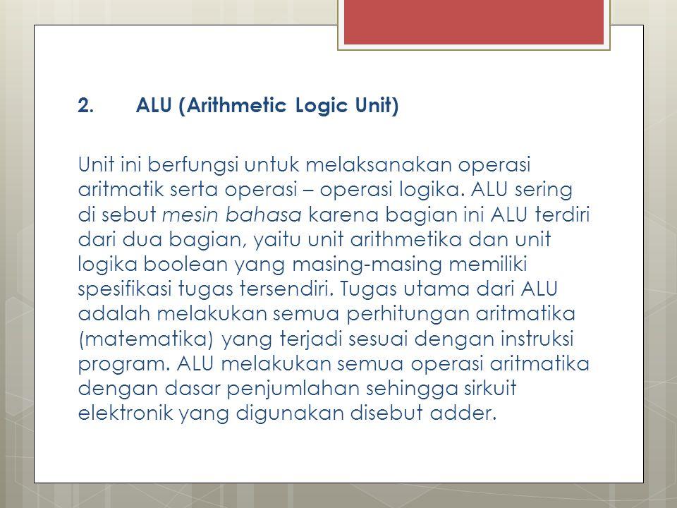 2. ALU (Arithmetic Logic Unit)