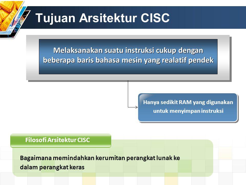 Tujuan Arsitektur CISC
