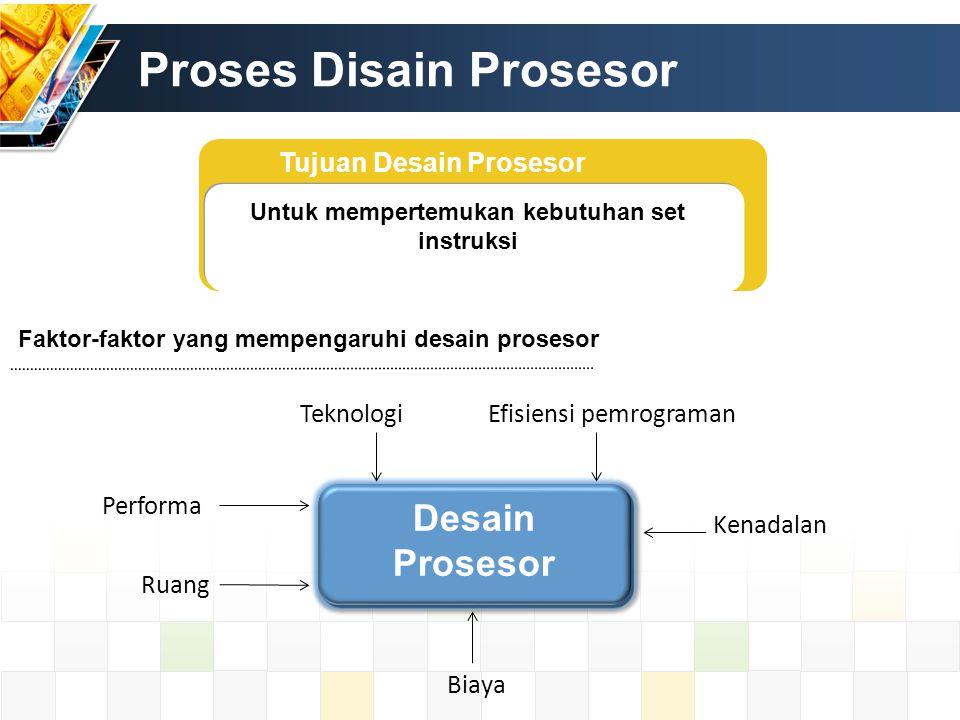 Proses Disain Prosesor