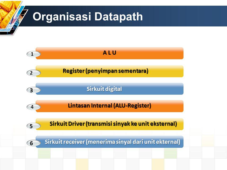 Organisasi Datapath A L U Register (penyimpan sementara)