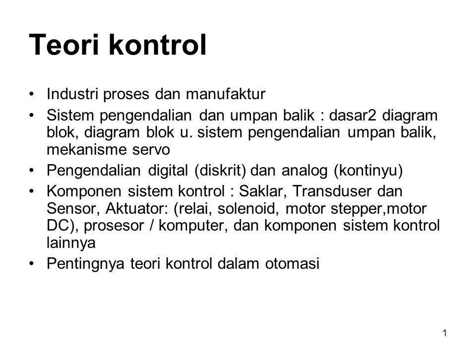 Teori kontrol Industri proses dan manufaktur
