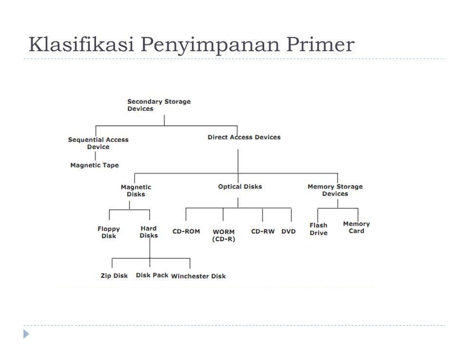 Klasifikasi Penyimpanan Primer