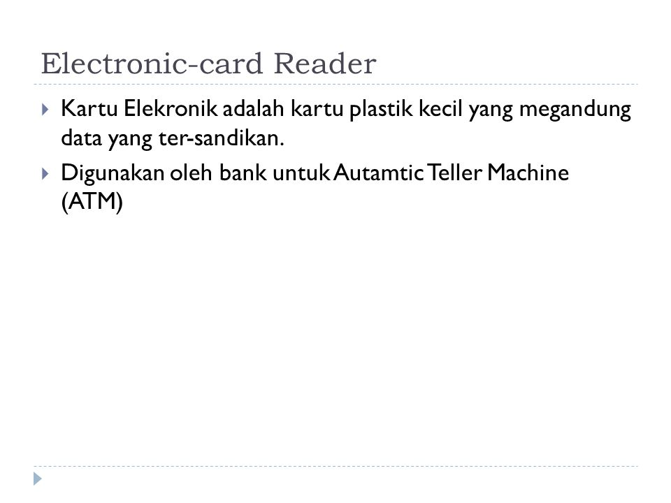 Electronic-card Reader
