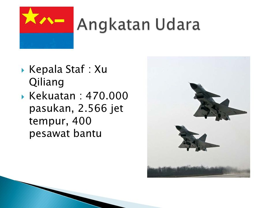 Angkatan Udara Kepala Staf : Xu Qiliang