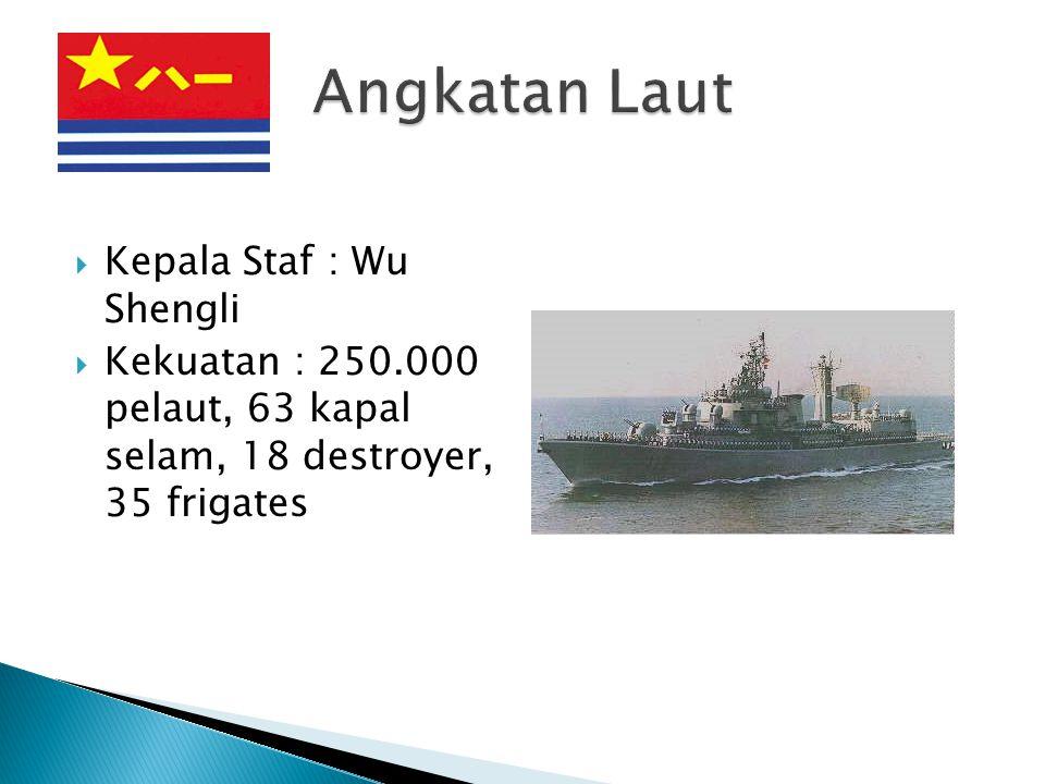 Angkatan Laut Kepala Staf : Wu Shengli