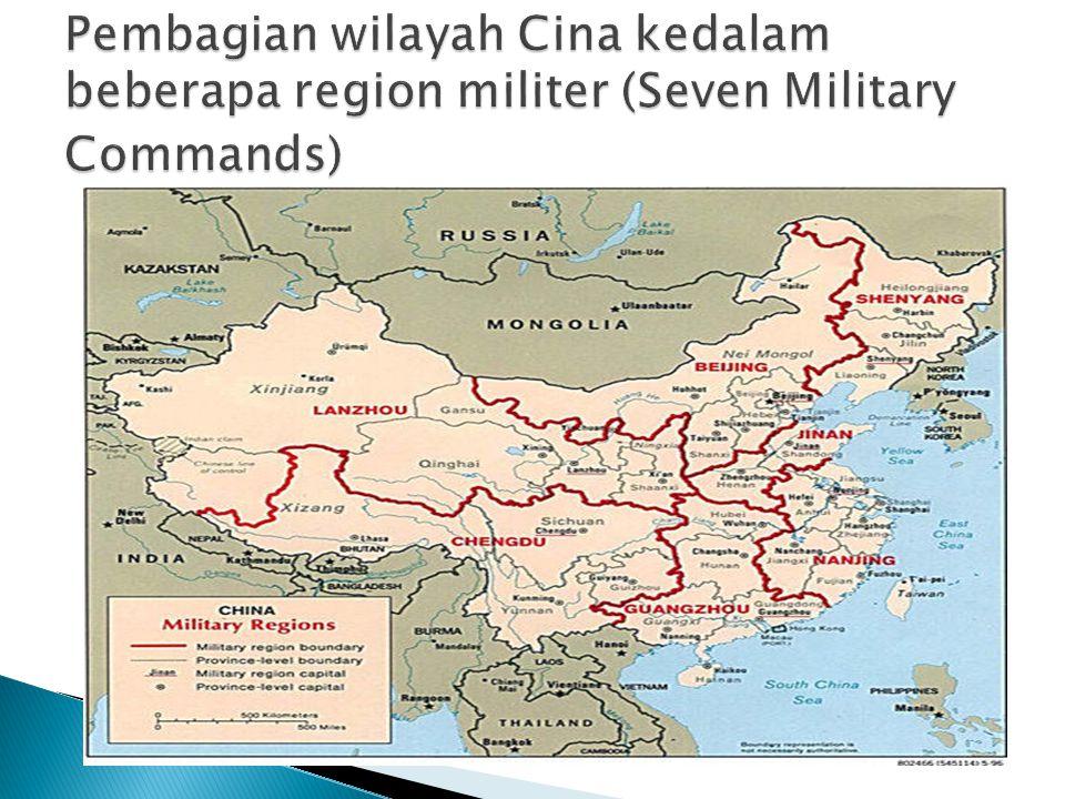 Pembagian wilayah Cina kedalam beberapa region militer (Seven Military Commands)