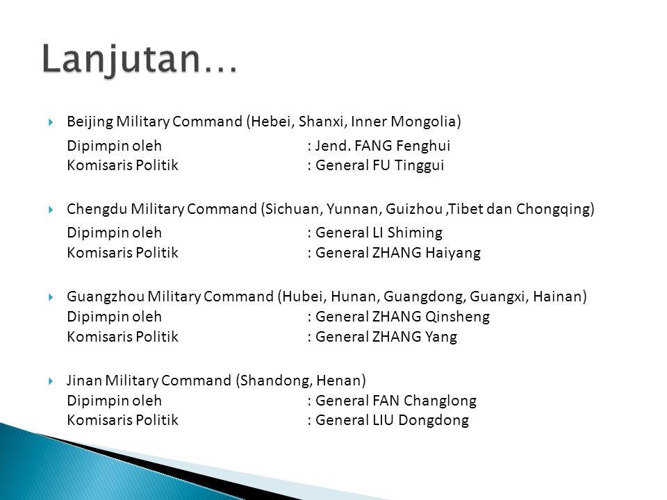 Lanjutan… Beijing Military Command (Hebei, Shanxi, Inner Mongolia)