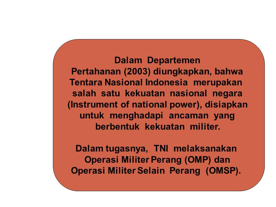 Pertahanan (2003) diungkapkan, bahwa