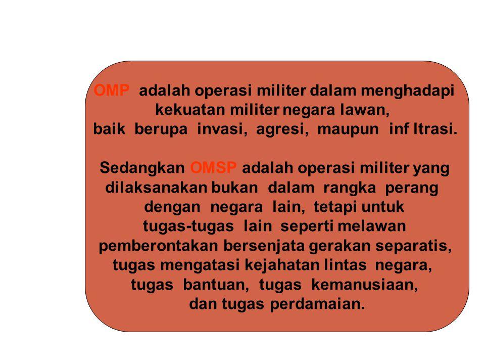 OMP adalah operasi militer dalam menghadapi